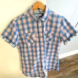 PD&C short sleeve, flannel button up